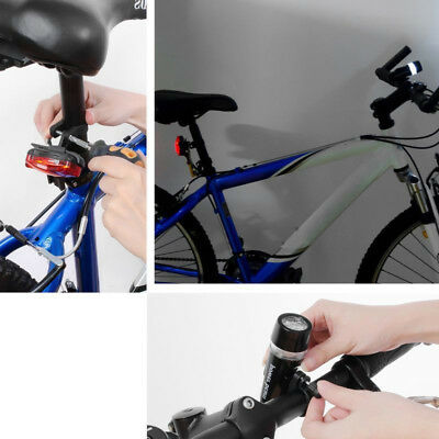 Insten 5 LED Bike Bicycle Front Headlight Rear Back Tail Safety Flashlight