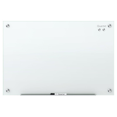 Quartet Infinity Magnetic Glass Dry Erase Board, White, 4 X 3 Feet (3413820115)