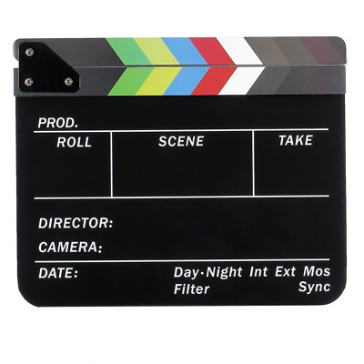 Neewer® Acrylic Plastic 10x12in/25x30cm Dry Erase Director's Film Movie Clapboar