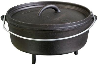 Camp Chef 10 in. Classic Pre-Seasoned Cast Iron Dutch Oven Charcoal Wood NEW