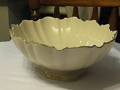 Vintage Lenox Symphony Sculptured Ivory Bowl Hand Decorated 24K Gold