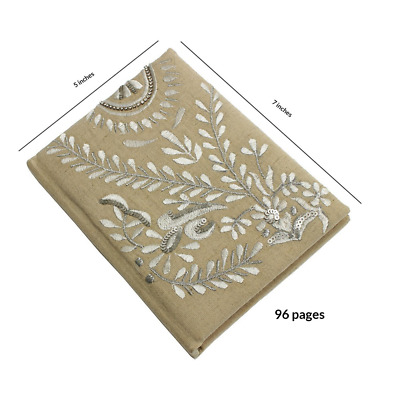 Store Indya Hand Embroidered Travel Personal Diary Unlined Journal (7x5) Noteboo