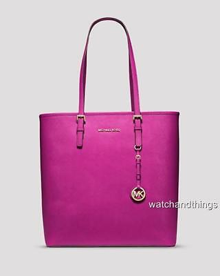 New Michael Kors Jet Set Saffiano Leather Tote 30H4GTVT9L $298 *100% Authentic!*
