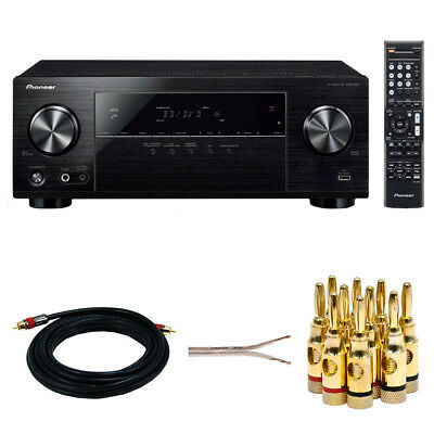 Pioneer 5.1ch AV Receiver w/ UHD Pass-through w/ HDCP 2.2 + Accessories Bundle