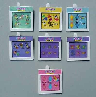 Amazing Ally Doll Interactive Cards Colors Holidays Time Activity Lot of 7