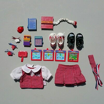 Amazing Ally Doll Interactive School Accessory Lot Clothes Shoes Cartridges