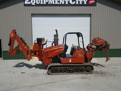 2006 Ditch Witch HT115 Steel Tracks Vibratory Cable Plow Backhoe Vermeer 599 HRS