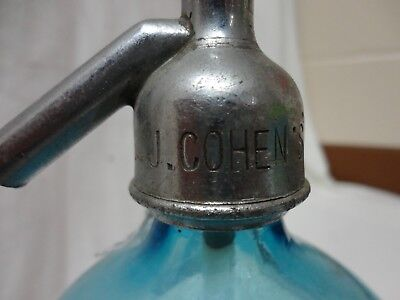 seltzer bottle; cohen's Min. Water. 51; Brooklyn, NY.