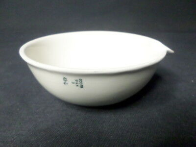 Coors Tek USA 150mL Glazed Porcelain Evaporating Dish w/ Pour Spout, Z247596