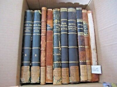 Rare Antique German Church Theology Religion Christianity book lot of 10.1800s