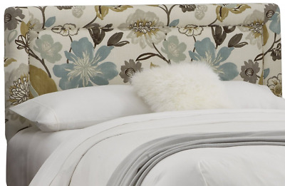 Skyline Furniture Queen Border Headboard in Gorgeous Pearl