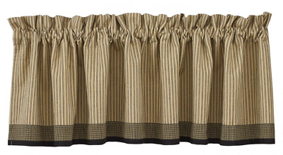 Park Designs Primitive Star Lined Border Valance, 72 by 14-Inch