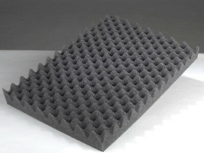 2 PACK Egg Crate Soundproofing Acoustic Wedge Foam Tiles Wall Panels 24X 12 X 2