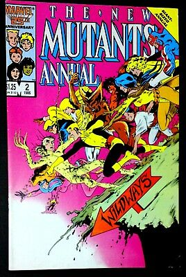 The New Mutants Giant Sized Annual #2 (1986) 1st app Psylocke 1st Print Key FN+