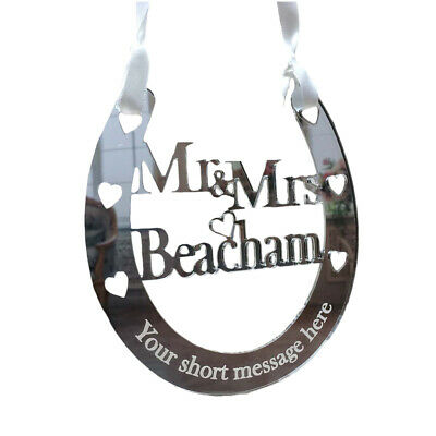 Wedding Horseshoe Personalised Mr & Mrs Bridal Gifts Good Luck Lucky Keepsakes