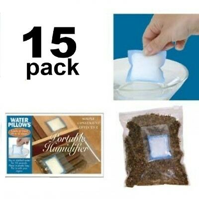 15 Pack Water Pillow Portable Humidifier Cigar Humidor Case Tobacco Pouch Jar