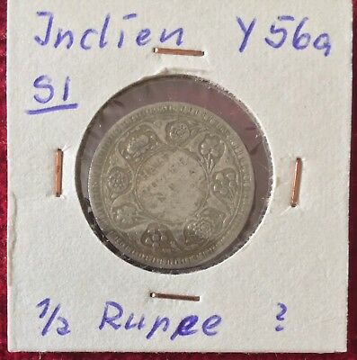 Indien India 1/2 Rupee 1942 Silber