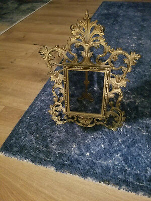 The National Brass and Iron Works picture frame easel Victorian NB & IW antique