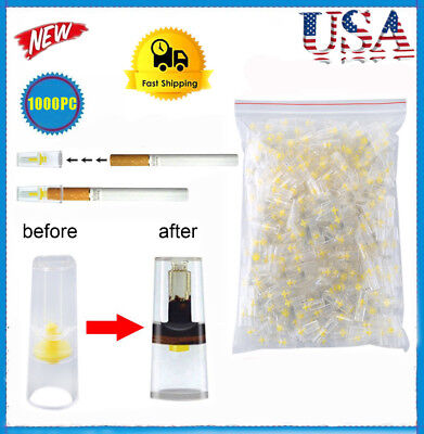 Bulk Cigarette Filter Tips (1000 Filters) Block, Filter Out Tar&Nic US