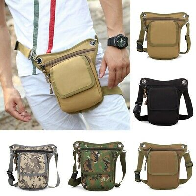 New Mens Outdoor Nylon Motorcycle Riding Thigh Drop Leg Fanny Pack Hip Waist Bag