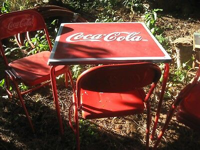 vintage coca cola table and 4 chairs 150 00 picclick