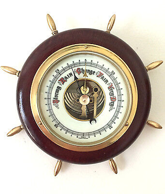Vintage round barometer, W. Germany,1970s-80s, Exc. working order, EUC, # 799
