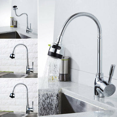 Kitchen Swivel Spout Single Handle Sink Faucet Pull Down Spray Mixer Tap Gifts