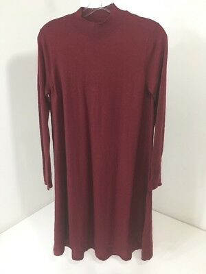 Asos Maternity Women's Ribbed Detail Cashmere Blend Tunic Burgundy Us:4 Nwt