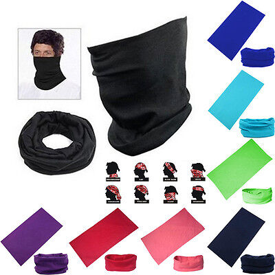 Unisex Tube Bandana Head Face Mask Neck Gaiter Snood Scarf Beanie Headwear Gift