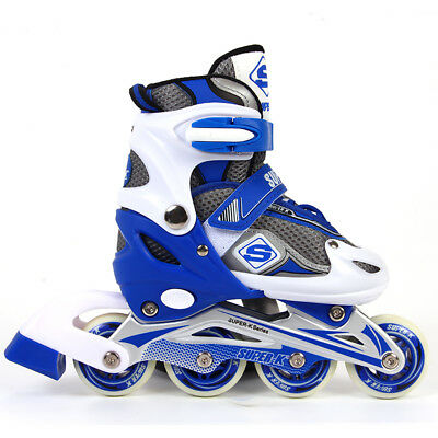 SUPER-K Inline Skate Kids Roller Blades Shoes Adjustable Sizes Boys/Girls Skates