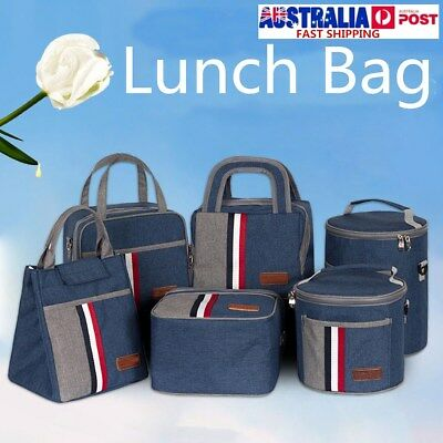 Hot Cold Insulated Thermal Lunch Food Box Tote Bag Work School Travel Picnic