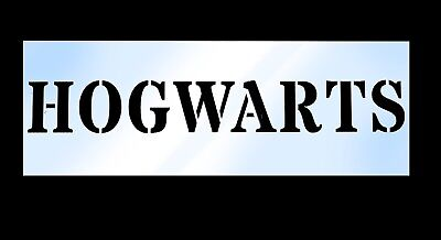 HOGWARTS Stencil Harry Potter Sign 30 x 219mm Re-usable to help make magic signs