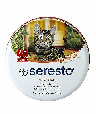 Bayer Seresto Collier antiparasitaire pour chats - 7 à 8 mois de protection