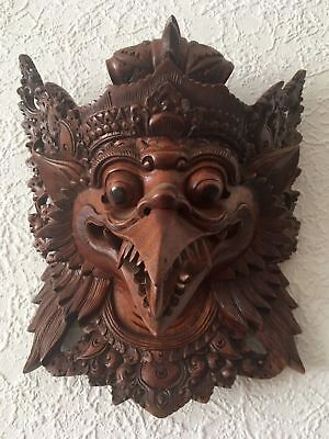 Balinese wooden mask Garuda high quality art mask museum fit Kuta Gallery Bali