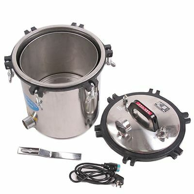 110V Steam Autoclave Sterilizer Tools 18L Large Capacity Medical Stainless Steel