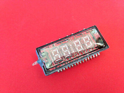 IVL2-7/5 ИВЛ2-7/5 VFD digit clock display tube vintage RARE NOS SAME DATE 2pcs