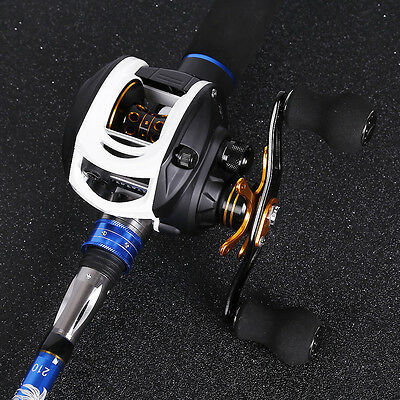 Baitcasting Fishing Rod with Reel Combos Left Right Hand Trout Bass Fishing Kits