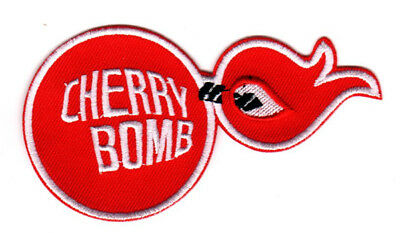 CHERRY BOMB MUFFLERS EMBROIDERED IRON ON PATCH hot rod muscle car rat rod racing