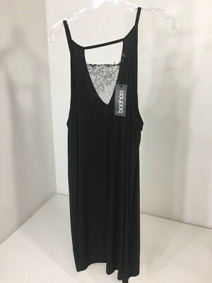 a7509936800 WOMEN S BOOHOO PLUS Lily Detail Swing Dress Black US 18 NWT -  24.99 ...