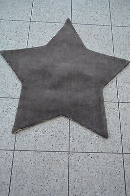 NEW Mamas and Papas Grey Star Unisex Floor Nursery Wool Rug