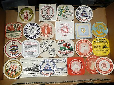 23 Different Vintage Broken Hill Drink Coasters Billie's Club And More