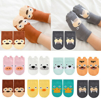 Infant Boys Girls Toddler Ankle Socks Cartoon Animal Anti Slip Cotton Socks GOOD