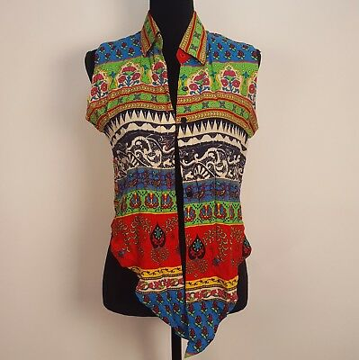 Nanthana Festival tie in the front vest made in Tahiland size small