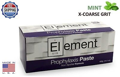 Element Prophy Paste Cups Mint X-Coarse 200/box Dental Non Splatter W/flouride
