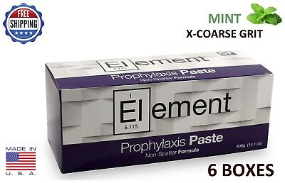 Element Prophy Paste Cups Mint X-Coarse 200/box Dental W/flouride - 6 Boxes