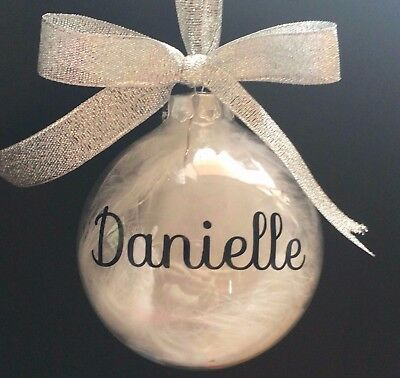 Name Vinyl Decals Stickers Bauble 2.5 Or 10 - Diy Christmas Sku105