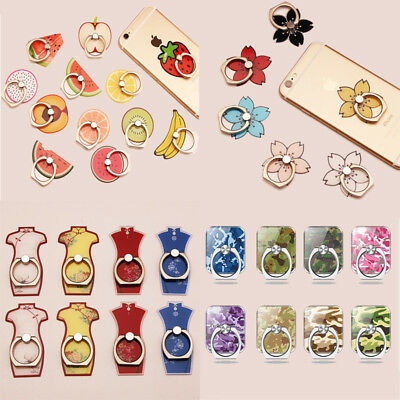 Reusable Metal Finger Ring Sticky Mount Stand Holder Gift For Cell Phone Nice