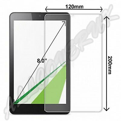 """Universal Tough Tempered Glass Screen Protector for ALL 8"""" Tablets tab"""