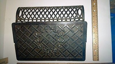 Antique Furnace cast iron Floor wall Register Grate Air Vent - Patent 1892