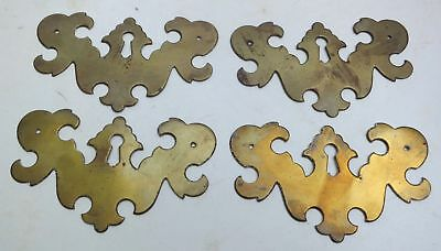 """Set of 4 Top Quality VIntage Classic Chippendale Keyhole Escutcheons 3¾"""" by 2¼"""""""